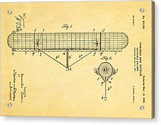 Zeppelin Navigable Balloon Patent Art 1899 Acrylic Print by Ian Monk