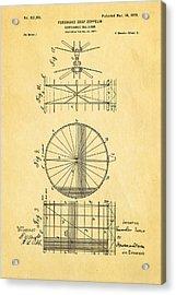 Zeppelin Navigable Balloon Patent Art 2 1899 Acrylic Print by Ian Monk