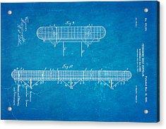 Zeppelin Navigable Balloon Patent Art 3 1899 Blueprint Acrylic Print by Ian Monk