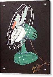 Zero Vintage Fan Acrylic Print by Jeffrey Bess
