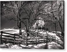 Zigzag Fencerow Acrylic Print by William Fields