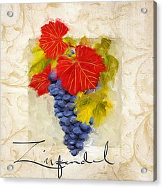 Zinfandel Acrylic Print by Lourry Legarde
