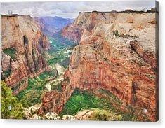 Zion National Park Acrylic Print by Lori Deiter
