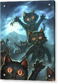 Zombie Cats Acrylic Print by Jeff Haynie
