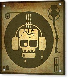 Zombie Turntable Acrylic Print by Milton Thompson