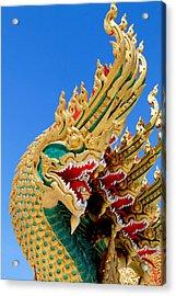 Asian Temple Dragon   Acrylic Print by Panyanon Hankhampa