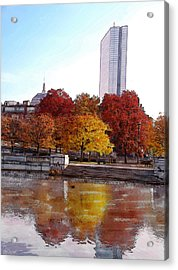 Back Bay Colors Acrylic Print by Carl Licence