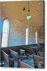 Bodie Ghost Town - Church 05 Acrylic Print by Gregory Dyer