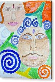 Faces Acrylic Print by Sonali Gangane