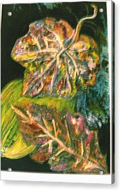 Leaves From My Imagination Acrylic Print by Anne-Elizabeth Whiteway