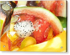 Mixed Fruit Watermelon Acrylic Print by Anek Suwannaphoom