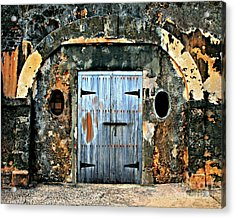 Old Wooden Doors Acrylic Print by Perry Webster