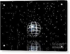 Planet And Stars Acrylic Print by Odon Czintos