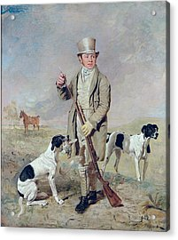 Richard Prince With Damon - The Late Colonel Mellish's Pointer Acrylic Print by Benjamin Marshall