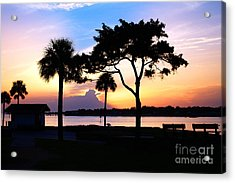 Sunrise At The Old Fort Acrylic Print by Richard Burr