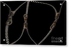 Zippers Acrylic Print by Odon Czintos