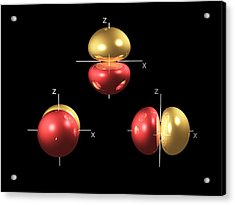 2p Electron Orbitals Acrylic Print by Dr Mark J. Winter