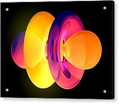 4fz3 Electron Orbital Acrylic Print by Laguna Design