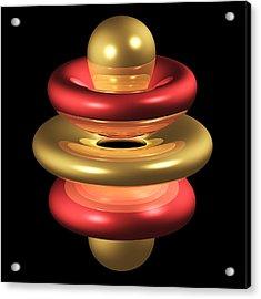 5gz4 Electron Orbital Acrylic Print by Dr Mark J. Winter