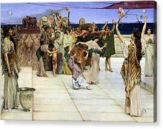 A Dedication To Bacchus Acrylic Print by Sir Lawrence Alma-Tadema