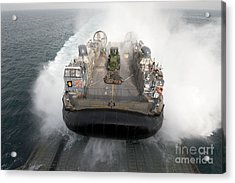A Landing Craft Air Cushion Enters Acrylic Print by Stocktrek Images