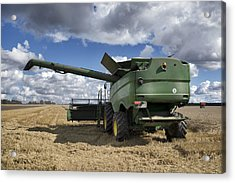 A Large Combine Harvester Machinery Acrylic Print by Jaak Nilson