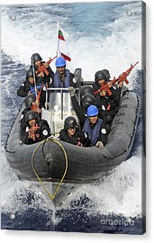 A Visit, Board, Search And Seizure Team Acrylic Print by Stocktrek Images
