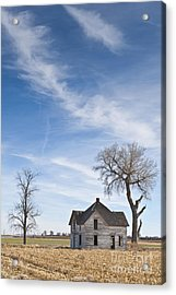 Abandoned House In Field Acrylic Print by Dave & Les Jacobs