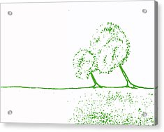 Abstract Tree Art By Shawna Erback Acrylic Print by Shawna Erback