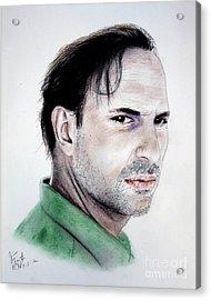 Actor Oscar Torre Acrylic Print by Jim Fitzpatrick