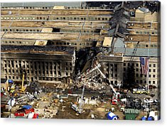 Aerial View Of The Terrorist Attack Acrylic Print by Stocktrek Images