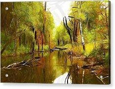 Along The River Acrylic Print by Stefan Kuhn