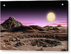 Alpha Centauri System Acrylic Print by Lynette Cook