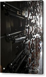 An Armory Of Pk Machine Guns Designed Acrylic Print by Terry Moore