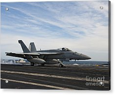An Fa-18f Super Hornet Takes Acrylic Print by Stocktrek Images