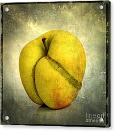 Apple Textured Acrylic Print by Bernard Jaubert