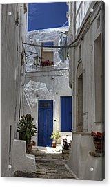 Apulia - Blue-white Acrylic Print by Joana Kruse