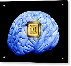 Artificial Intelligence And Cybernetics Acrylic Print by Victor De Schwanberg