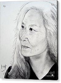 Author And Activist Maxine Hong Kingston Acrylic Print by Jim Fitzpatrick