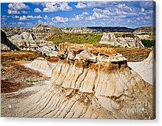 Badlands In Alberta Acrylic Print by Elena Elisseeva