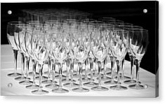 Banquet Glasses Acrylic Print by Svetlana Sewell