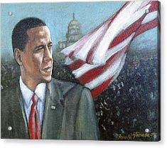 Barack Obama Acrylic Print by Howard Stroman