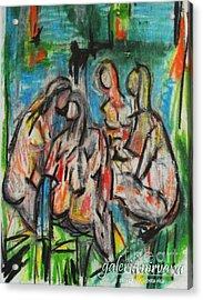 Bathers 98 Acrylic Print by Bradley