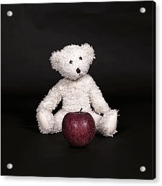 Bear And Apple Acrylic Print by Joana Kruse