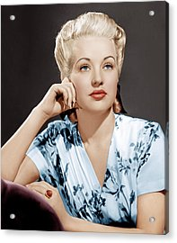 Betty Grable, Ca. 1940s Acrylic Print by Everett