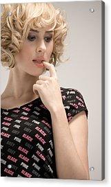 Blond Lady Acrylic Print by Ralf Kaiser