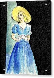 Blue Gown Acrylic Print by Mel Thompson