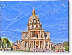 Blue Skies Acrylic Print by Barry R Jones Jr