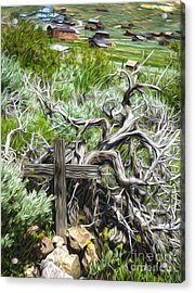 Bodie Ghost Town - Boot Hill 02 Acrylic Print by Gregory Dyer