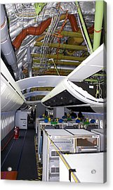 Boeing 747-8 Interior Acrylic Print by Mark Williamson